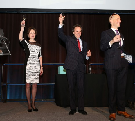 From left: CEO Diane Ramirez, owner of Terra Holdings William Zeckendorf and President Jim Gricar