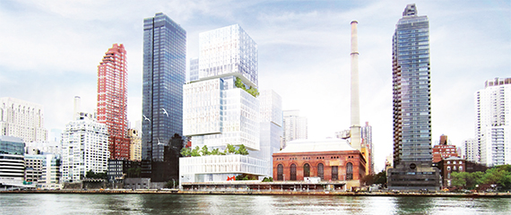 Memorial Sloan-Kettering's 1.5 million-square-foot complex on East 74th Street will include medical school facilities