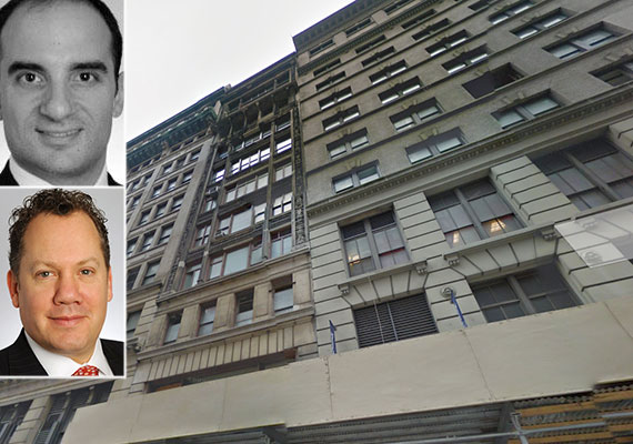 From top left: Joseph Messina, 60-64 West 35th Street and Marc Shapses