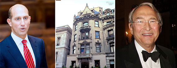 From left: Adam Leitman Bailey, 3 East 78th Street (Credit: CityRealty) and Sheldon Solow