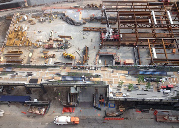 The final phase of the High Line, which is currently under construction