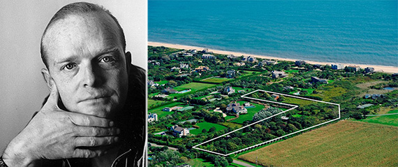 From left: Truman Capote and his estate at