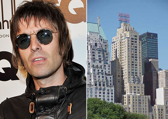 From left: Liam Gallagher and 160 Central Park South