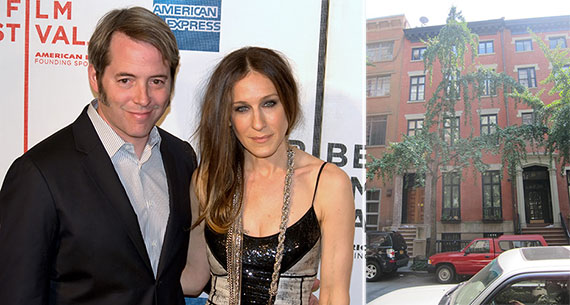 From left: Matthew Broderick & Sarah Jessica Parker and 20 East 10th street