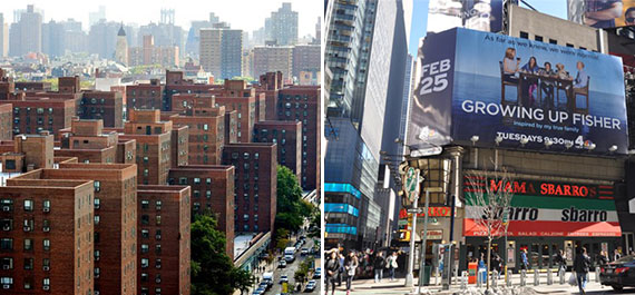 From left: Stuyvesant Town and 1604 Broadway