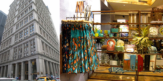 From left: 195 Broadway and Anthropologie