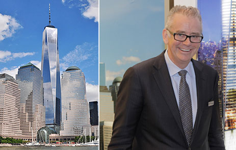 From left: One World Trade Center and Westfield Group's David Ruddick