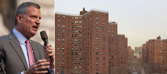 From left: Bill de Blasio and Alfred E. Smith houses