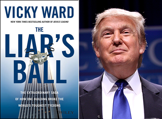 The cover of Ward's forthcoming book and Donald Trump