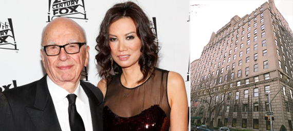 From left: Rupert Murdoch and then-wife Wendi Deng and 834 Fifth Avenue