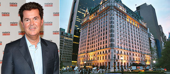 From left: Simon Fuller and the Plaza Hotel