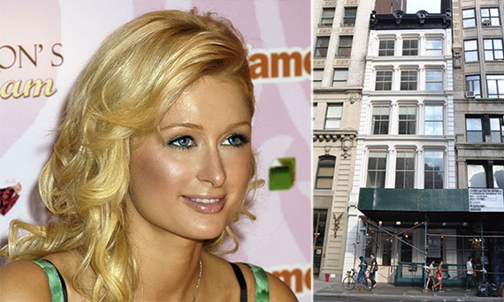 From left: Paris Hilton and 738 Broadway