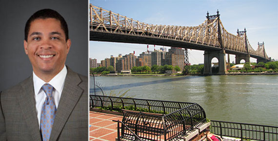 From left: Kyle Kimball and the Queensboro Bridge