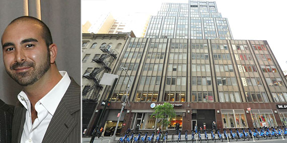 From left: Alex Sapir and 110 Church Street in Manhattan