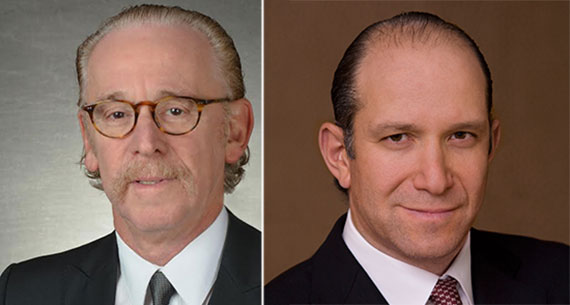 From left James Kuhn and Howard Lutnick