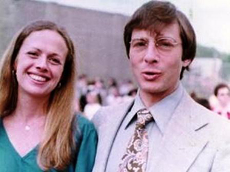 From left: Kathleen McCormack and Robert Durst between 1973 and 1982