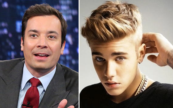 Jimmy Fallon and Justin Bieber