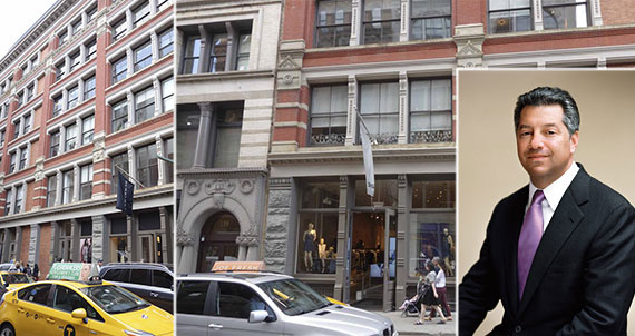 From left: 131-137 Spring Street, Soho, and Marc Holliday