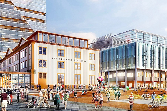Rendering of the South Street Seaport