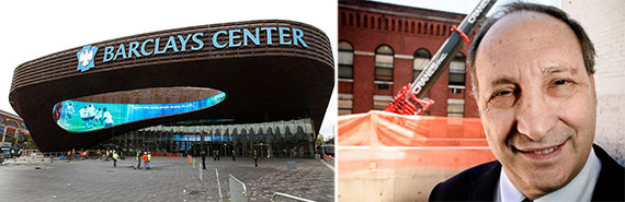 From left: Barclays Center and Bruce Ratner