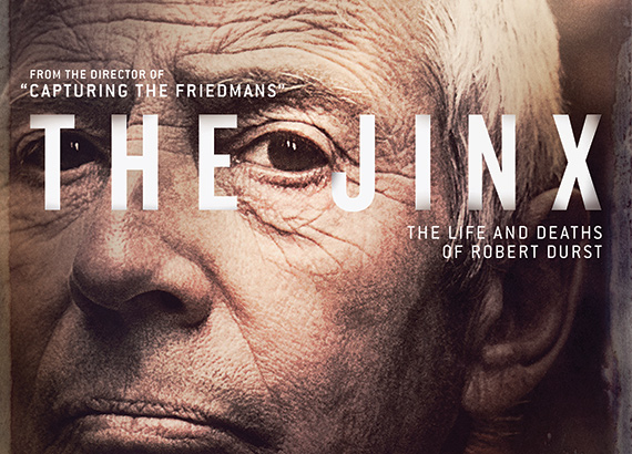 "A slice of the promo poster for ""The Jinx: The Life and Deaths of Robert Durst""  (Credit: HBO)"