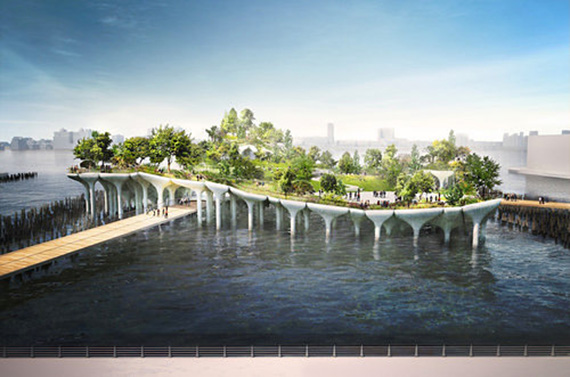Renderings of Pier 55
