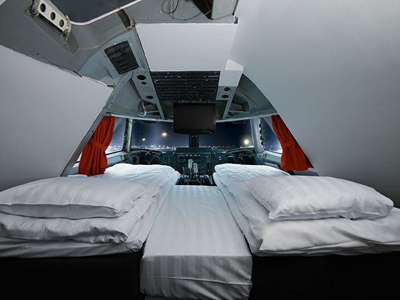 A 747 in Sweden has been turned into a hotel