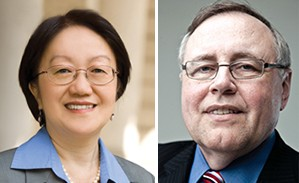 From left: Councilwoman Margaret Chin and Steven Spinola