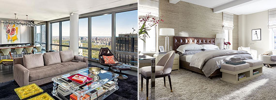 From left: Unit 71C at the Mandarin Oriental and Unit  8C at 737 Park