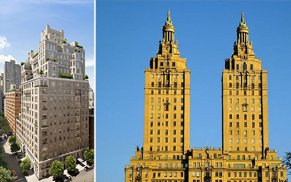 From left: 20 East End Avenue and 145 Central Park West