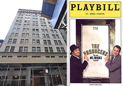 """From left: 45 John Street and Playbill cover for """"The Producers"""""""