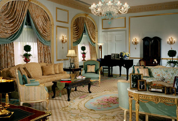 The presidential suite in the Waldorf Astoria