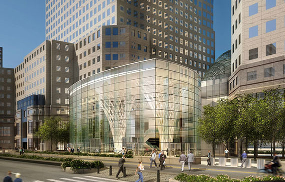 Rendering of Brookfield Place in Lower Manhattan