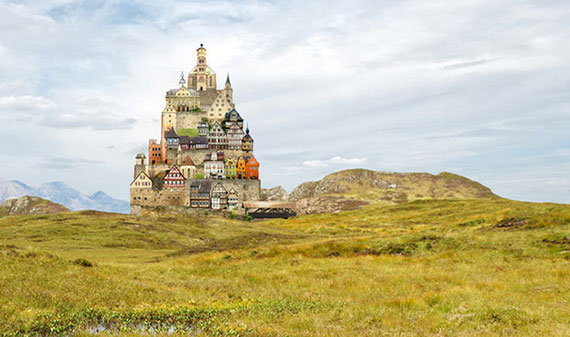 A surreal picture by German graphic designer Matthias Jung
