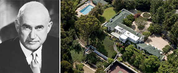 Samuel Goldwyn and his Beverly Hills mansion