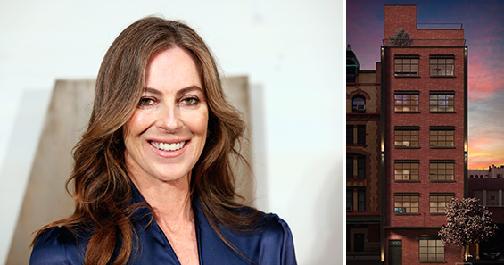 Kathryn Bigelow and a rendering of 449 Washington Street