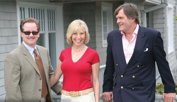From left: Top broker Tim Davis with third-ranked Susan Breitenbach and Harald Grant, who has the number two spot.