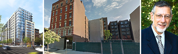 Rendering of 300 West 122nd Street, 111 East 115th Street and Rubin Schron