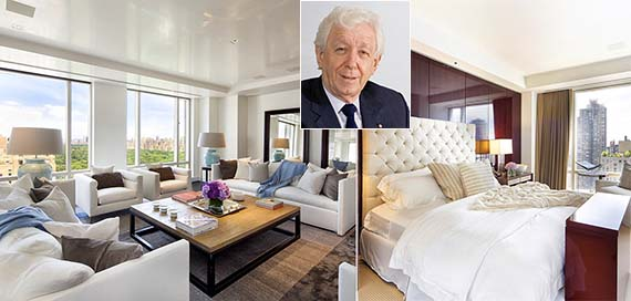 Frank Lowy and his former apartment at Trump International