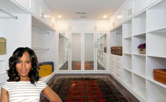 Kerry Washington has a closet fit for a queen at her Los Angeles house.