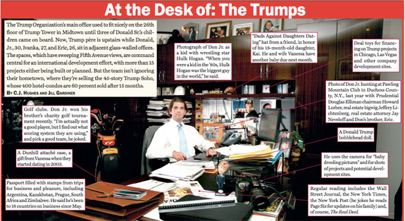 Click here to see the full, interactive image, as well as the desks of Ivanka and Eric Trump.