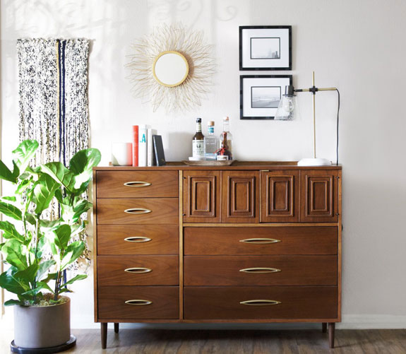 A dresser (and bar!) by Kelly Martin.