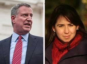 From left: Bill de Blasio and Maritza Silva Ferrell