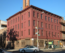Former building at 833-869 Myrtle Avenue in Bedford-Stuyvesant