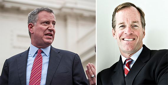 From left: Bill de Blasio and Paul Massey