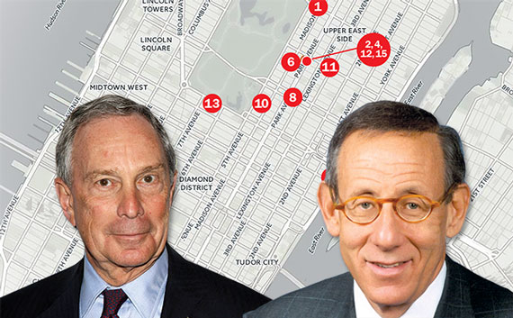 From left: Michael Bloomberg and Stephen Ross