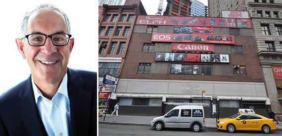 L+M's Ron Moelis and 23 Park Row in the Financial District before it was demolished