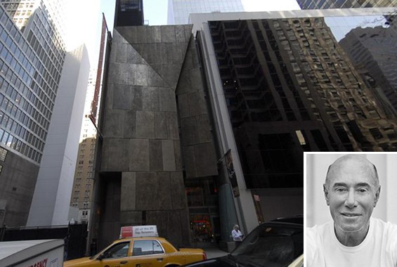 The former American Folk Art Museum in Midtown (Inset: David Geffen)