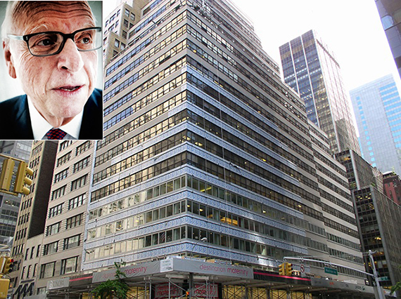Howard Lorber and 575 Madison Avenue (credit: Marc Scrivo)