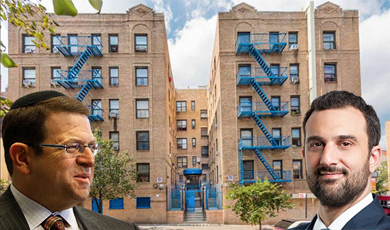 From left: Harbor Group's Jordan Slone, 769 Bryant Avenue in the Bronx and Hodges Ward Elliott's Will Silverman